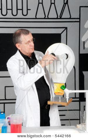 Professor Is Testing Electricity