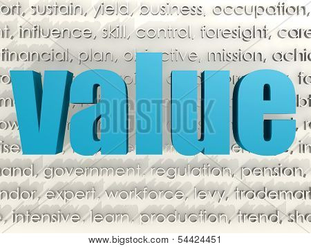 Value word cloud