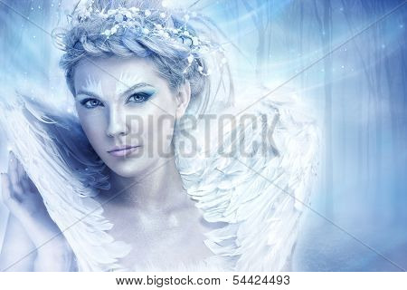 Beautiful snow queen