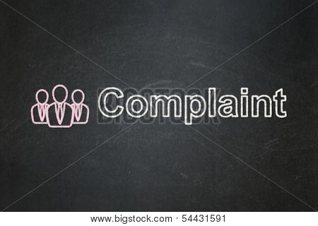Law concept: Business People and Complaint on chalkboard
