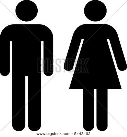 Men Woman Icon Poster Id5443192