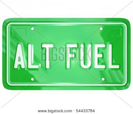 Alt Fuel Alternative Power Energy License Plate