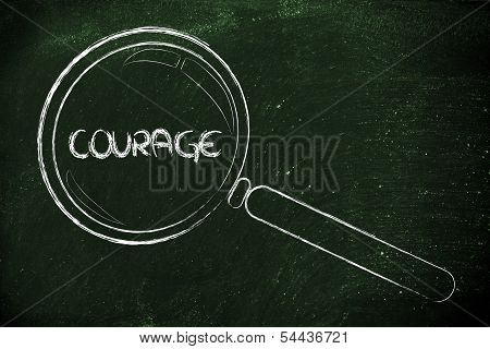 Finding Courage, Magnifying Glass Design