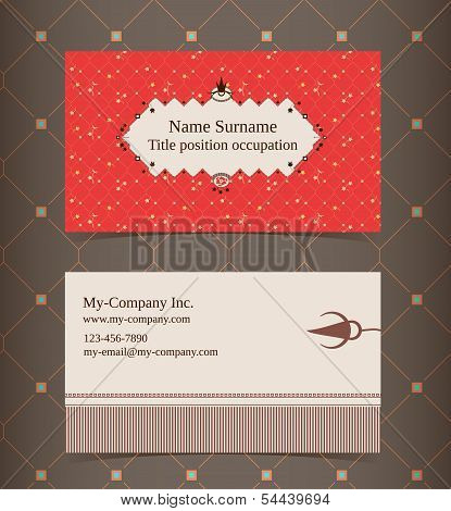 Business Card Layout. Editable Design Template