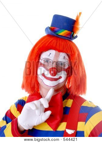 Reflective Male Clown