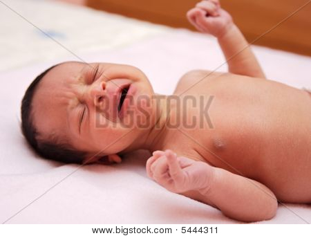 Adorable New Born Baby Crying