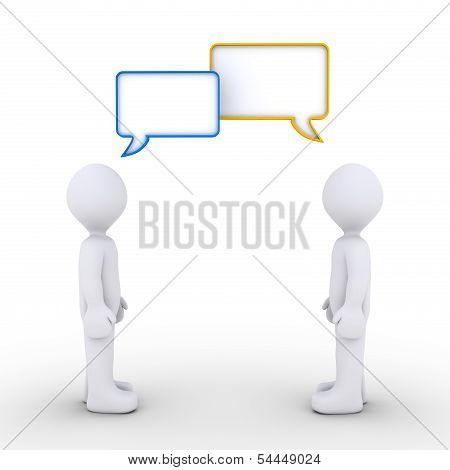 Two Persons Are Communicating