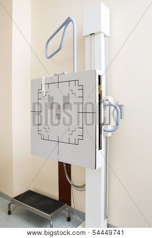 Chest xray machine in examination room