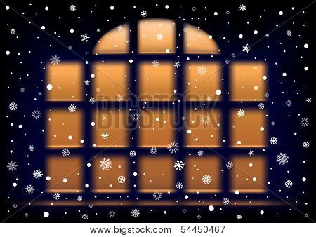 snow night extra large window