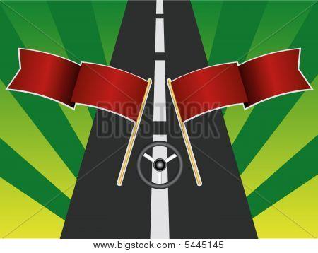 Flag road