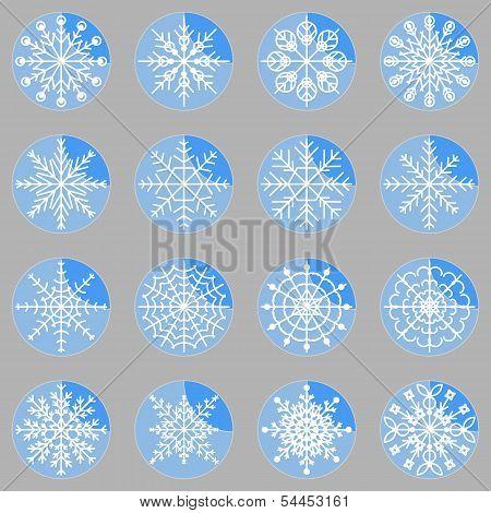 Create Snowflake Icons On Button
