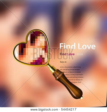 Find love, vector illustration.