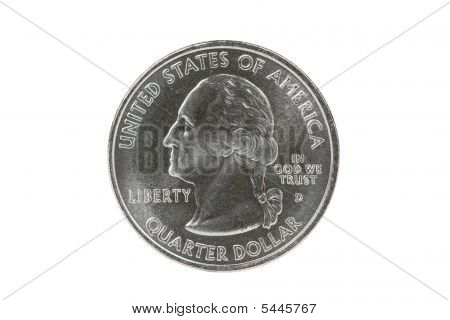 Washington Quarter With Clipping Path