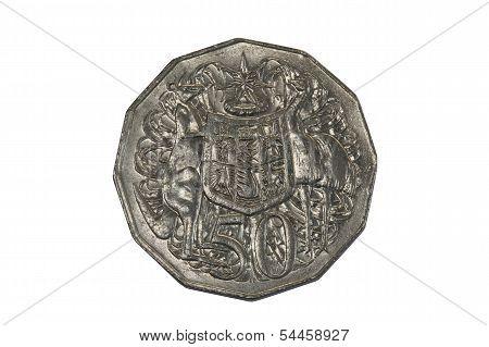 Australian Fifty Cent Coin