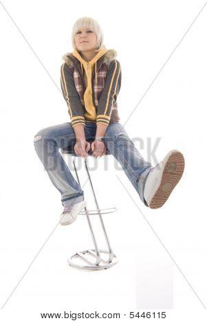 Sitting Fun Girl