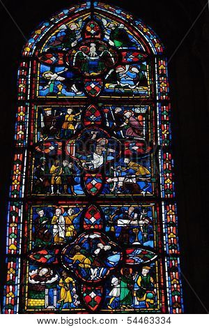 Stained glass windows of Saint Gatien cathedral in Tours
