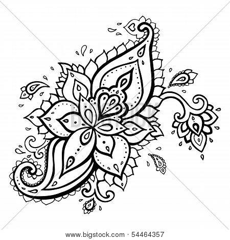 Paisley. Ethnic ornament.