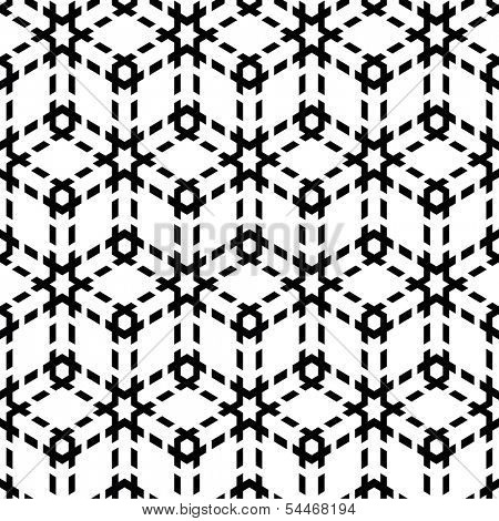Seamless black-and-white geometric pattern. Vector abstract illustration.