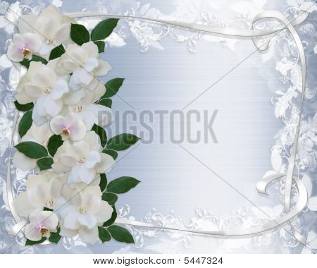 Gardenias And Lace Wedding Invitation