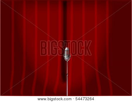 Red Stage Curtain.