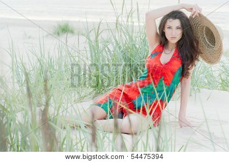 Georgian Girl On The Beach