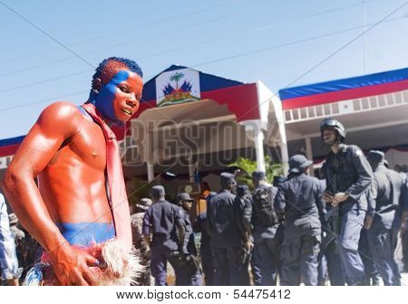Haitian Painted Government Supporter