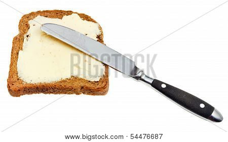 Bread And Butter Sandwich With Table Knife