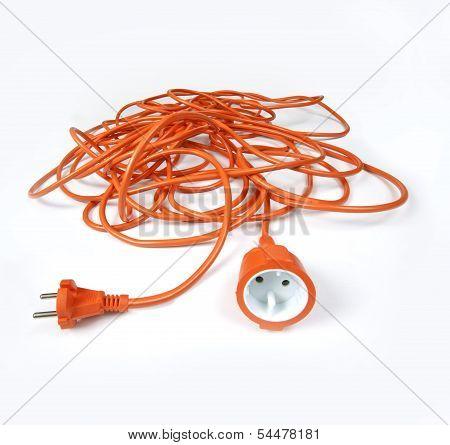 orange extension electric cord