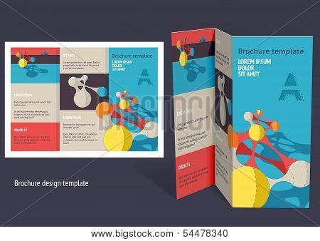 Brochure, Booklet Z-fold Layout. Editable Design Template