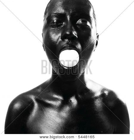 Made Up Black Woman With Egg