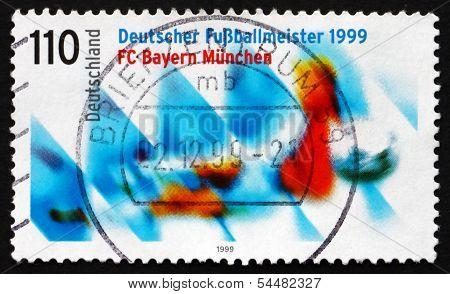 Postage Stamp Germany 1999 Bayern Munchen, German Soccer Champio