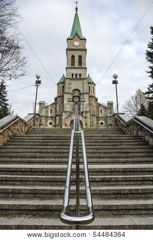 Stairs To Najswietszej Rodziny Church In Zakopane