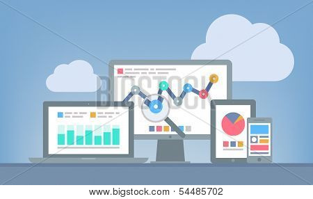 Web And Seo Analytics Concept poster