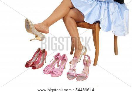 Girl With 4 High Heels.
