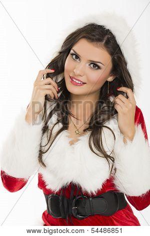 Flirtatious Santa Girl