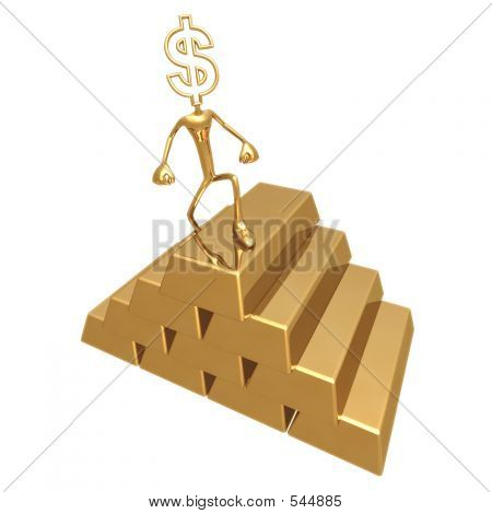 Gold Pile Dollar