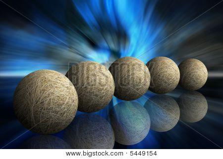 Five Hay Spheres