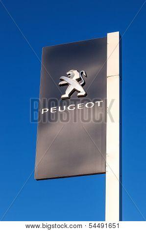Samara, Russia - November 24: The Emblem Peugeot, November 24, 2013 In Samara, Russia. Peugeot Is A