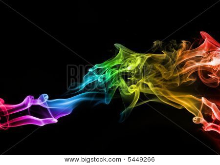 Abstract Colourful Smoke