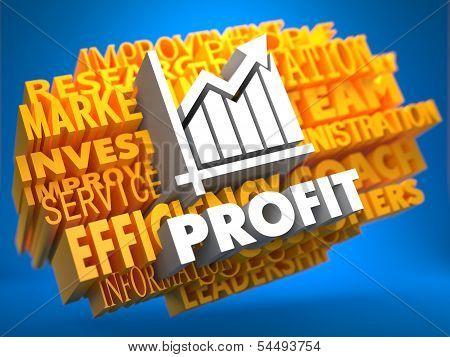Profit. Wordcloud Concept.