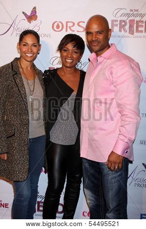 LOS ANGELES - NOV 21:  Salli Richardson Whitfield, Vanessa Bell Calloway, Dondre T. Whitfield at the