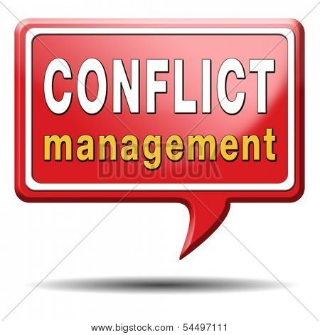 conflict management in business at work or between couple with different interest solve the problem and find resolution