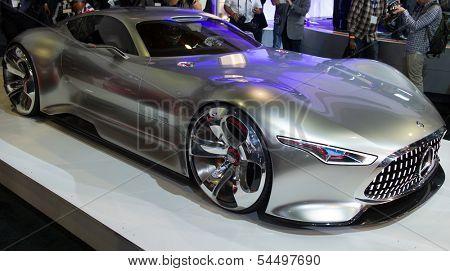 LOS ANGELES, CA - NOVEMBER 20: A Mercedes-Benz AMG Vision Gran Turismo on exhibit at the Los Angeles Auto Show in Los Angeles, CA on November 20, 2013