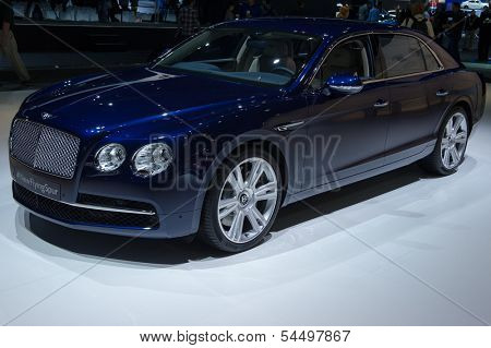 LOS ANGELES, CA - NOVEMBER 20: A Bentley Flying Spur on exhibit at the Los Angeles Auto Show in Los Angeles, CA on November 20, 2013