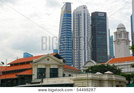 Singapore Downtown Cityscape