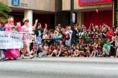 Hundreds Of Spectators Watch Dragon Con Parade On Atlanta Street
