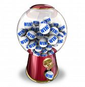 image of gumball machine  - Win Ball Contest Lucky Winner Gumball Machine - JPG