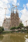 picture of gaudi barcelona  - Sagrada Familia iconic and beautiful Cathedral building in Barcelona - JPG