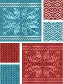 Nordic Knitting Vector Seamless Patterns. Use as fills, digital paper, or print off onto fabric to p