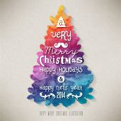 stock photo of congratulation  - Christmas Greeting Card - JPG